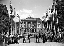 First meeting of the Council of Europe. University of Strasbourg (Bas-Rhin), August 1949. © Roger-Viollet