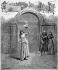 "Sarah Bernhardt in ""Macbeth"" by William Shakespeare, Paris, théâtre de la Porte-Saint-Martin, 1884. Engraving by Fortune-Louis Méaulle after a drawing by Henri Meyer. © Roger-Viollet"