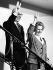 Margaret Thatcher (1925-2013), Premier ministre britannique, et son mari Denis Thatcher (1915-2003), après sa troisième victoire aux élections. Grande-Bretagne, 1987. © Ullstein Bild / Roger-Viollet