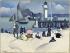 """Paul-Elie Gernez (1888-1948). """"Baigneurs devant la jetée à Honfleur"""". Paris, musée d'Art moderne. © Musée d'Art Moderne/Roger-Viollet"""