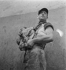 Abattoirs de Vaugirard. Boucher. Paris, vers 1935. © Gaston Paris / Roger-Viollet