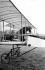 Henri Farman (1874-1958), French airman, on the biplane Voisin, in 1908-1909. © Roger-Viollet