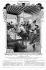 """Salis déclamant, et, de gauche à droite : Raoul Ponchon, Emile Goudeau, Jules Jony, Georges Courteline, Rudolphe Salis et Willette. Paris, Cabaret du """"Chat Noir"""". 1906. © Roger-Viollet"""