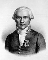 Gaspard Monge (1746-1818), French mathematician. Lithograph, French National Library. © Albert Harlingue / Roger-Viollet
