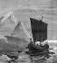 """Carl Rasmussen (1841-1893). """"Découverte du Groënland par Erik le Rouge (v.950-v.1010), explorateur norvégien, vers 983"""". Illustration, 11 septembre 1875. © TopFoto/Roger-Viollet"""