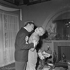 """""""L'Aventurière des Champs-Elysées"""", film by Roger Blanc. Tilda Thamar and Gamil Ratib. France, 1954.  © Alain Adler / Roger-Viollet"""