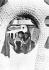 """Salvador Dalí (1904-1989), artiste-peintre surréaliste, sculpteur et scénariste espagnol et sa femme Gala vu à travers l'objet abstrait """"Rêve de Vénus ou le panoptique artistique"""". 15 juin 1939. © Ullstein Bild / Roger-Viollet"""
