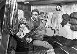 Lucien Petit-Breton (1882-1917), coureur cycliste français, au repos. Six jours de Paris, Vel' d'Hiv, janvier 1914. © Maurice-Louis Branger/Roger-Viollet