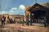 Guerre 1914-1918. Soldats bavarois devant une chapelle près de Sommepy-Tahure (Champagne, Marne). France, 1915. Fac-similé de plaque autochrome de Hans Hildenbrand. © Bilderwelt/Roger-Viollet