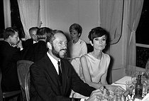 Mel Ferrer (1917-2008), American actor, director and producer, with his wife Audrey Hepburn (1929-1993), British actress. © Noa / Roger-Viollet