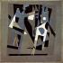 """Pablo Picasso (1881-1973). """"Arlequin et femme au collier"""". Huile sur toile, 1917. Paris, centre Georges Pompidou. © Iberfoto / Roger-Viollet"""