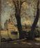 """Paul Lecomte (1842-1920). """"La Frégate du pont Royal"""". Huile sur toile. 1883. Paris, musée Carnavalet. © Musée Carnavalet / Roger-Viollet"""