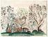"""Raoul Dufy (1877-1953). """"Paysage aux trois arbres"""". Aquarelle sur papier vergé, vers 1921. Paris, musée d''Art moderne. © Musée d'Art Moderne/Roger-Viollet"""