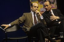 Jacques Chirac (born in 1932), French politician, during the campaign for the presidential elections, with Alain Juppé. Bordeaux (France), March 1995. © Jean-Paul Guilloteau/Roger-Viollet