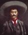 Emiliano Zapata (1879-1919), révolutionnaire mexicain. Mexico (Mexique), château de Chapultepec. © Iberfoto / Roger-Viollet