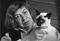 Patricia Highsmith (1921-1995), American writer. Locarno (Swtizerland), 1986. © Fondation Horst Tappe / KEYSTONE Suisse / Roger-Viollet