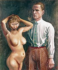 "Otto Dix (1891-1969). ""Autoportrait avec nu"", 1923. Stuttgart (Allemagne), Galerie der Stadt. © Alinari/Roger-Viollet"