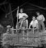 Back from harvest in a farm, Cher (France), July 1950. © LAPI/Roger-Viollet