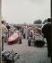 Stand Ferrari lors du Grand Prix d'Italie. Monza (Italie), 1961. © Alinari / Roger-Viollet