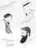 """Ernest La Jeunesse (1874-1917), écrivain et caricaturiste français, Francis de Croisset (1866-1947) et Tristan Bernard (1877-1937), écrivains français. Dessins de Sacha Guitry. Premier n° de """"La Flèche"""", 10 novembre 1904. © Roger-Viollet"""