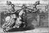 """Matthäus Merian (1593-1650) et  Crispin II de Passé. """"Manège royal de Monsieur de Pluvinel, tournoi, figure 46, 3ème partie - Le roi (Louis XIII, 1601-1643), Monsieur de Pluvinel"""". Estampe, 1623. Paris, musée Carnavalet. © Musée Carnavalet / Roger-Viollet"""
