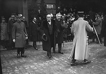 Official visit of Georges Clemenceau (1841-1929), French Minister of War and President of the Council of ministers, during general elections. Strasbourg (France), on November 4, 1919. © Roger-Viollet