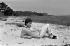 Françoise Sagan, femme de lettres française. Saint-Tropez (Var), 1956.   © Bernard Lipnitzki / Roger-Viollet