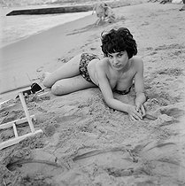 Bernadette Lafont (born in 1938), French actress, at the Cannes Film Festival. © Collection Roger-Viollet / Roger-Viollet