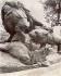 Jardin des Tuileries. Sculpture de Georges Cain (1856-1919) : groupe. Paris, Ier arrondissement. Photographie d'Eugène Atget (1857-1927). Paris, musée Carnavalet. © Eugène Atget / Musée Carnavalet / Roger-Viollet