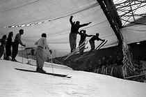 Skiing in the artificial snow. Paris, 1939.  © LAPI/Roger-Viollet