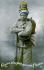 """Guerre 1914-1918. Carte postale patriotique française : """"Gloire à la plus grande France"""". © Roger-Viollet"""