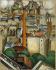 """Jean Marchand (1883-1940). """"Funiculaire de Montmartre"""". Huile sur toile. Paris, Musée d'Art moderne. © Musée d'Art Moderne/Roger-Viollet"""