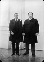 Theodore Roosevelt (1858-1919) and William Howard Taft (1857-1930), American statesmen, Presidents of the United States. © Maurice-Louis Branger / Roger-Viollet