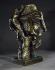 """Ossip Zadkine (1890-1967). """"Tête de poète"""". Bronze patiné, 1954. Paris, musée Zadkine. © Marc Dubroca/Musée Zadkine/Roger-Viollet"""