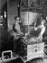 Automobiles. Worker handling sand at the Renault car factory. Boulogne-Billancourt (France), 1931-1934. Photograph by François Kollar (1904-1979). Paris, Bibliothèque Forney. © François Kollar/Bibliothèque Forney/Roger-Viollet