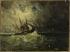 Félix Ziem (1821-1911). Storm. Oil on paper mounted on canvas. Musée des Beaux-Arts de la Ville de Paris, Petit Palais. © Françoise Cochennec/Petit Palais/Roger-Viollet