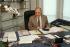 François Mitterrand (1916-1996), French statesman, at his desk. Last official pictures. Paris, November or December 1995. © Jean-Pierre Couderc/Roger-Viollet