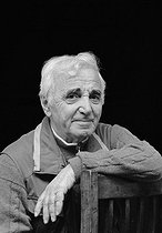 Charles Aznavour (1924-2018), Armenian-born French singer-songwriter and actor. France, on May 6, 2005. © Patrick Ullmann / Roger-Viollet