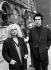 Sid Vicious (1957-1979), musicien britannique et membre des Sex Pistols, et sa compagne, Nancy Spungen (1958-1975), comparaissant au tribunal pour détention de stupéfiants. Londres (Angleterre), 8 février 1978. © PA Archive / Roger-Viollet