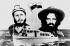 """Composition avec Fidel Castro et Camilo Cienfuegos, hommes politiques cubains et le bateau """"Gramma""""d'où le premier débarqua à Cuba, en 1956 (la date 26 juillet est celle de l'assaut de la caserne Moncada en 1953). © Roger-Viollet"""