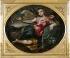 """Ippolito Scarsella (Scarsellino, 1550/1551-1620). """"Gloire"""". Modène (Italie), galerie Estense. © Alinari/Roger-Viollet"""