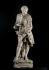 """Auguste Rodin (1840-1917). """"Portrait de Jean Le Rond dit d'Alembert, pour la façade de l'Hôtel de Ville de Paris"""", 1880. Plâtre. Musée des Beaux-Arts de la Ville de Paris, Petit Palais. © Eric Emo/Petit Palais/Roger-Viollet"""