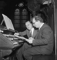 Olivier Messiaen (1908-1992), French composer, organist and music teacher. Paris, March 1952. © Boris Lipnitzki / Roger-Viollet