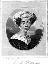 Mrs de Duras (1774-1828), French writer and friend of François-René de Chateaubriand's (1768-1848), French writer and politician. Engraving by Miss Jaser. © Roger-Viollet
