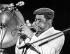 """John Birks """"Dizzy"""" Gillespie, trompettiste de jazz américain. Berlin, Philharmonie, 1980. © Ullstein Bild/Roger-Viollet"""