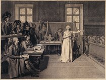 Pierre Bouillon. The trial of Marie-Antoinette, 1793. Drawing. Paris, musée Carnavalet.  © Musée Carnavalet/Roger-Viollet