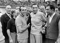Fausto Coppi (1919-1960), Italian racing cyclist, around 1950. © Roger-Viollet