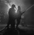Firemen at night in France. © Gaston Paris / Roger-Viollet