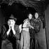 """""""Jacques ou la soumission"""", play by Eugène Ionesco. Direction: Robert Pastée. Jean-Louis Trintignant, Claude Thibault and Tsilla Chelton. Paris, Théâtre de la Huchette, October 1955. © Studio Lipnitzki / Roger-Viollet"""