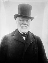 "Andrew Carnegie (1835-1919), American manufacturer and philanthropist, known as one of the ""Captains of Industry"", 1914. © Albert Harlingue / Roger-Viollet"